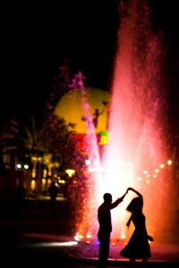 Downtown Disney, Lake Buena Vista, Florida engagement session of Desiree and Nguyen Vu