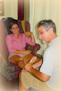 Father of the Bride Giving Foot Massage